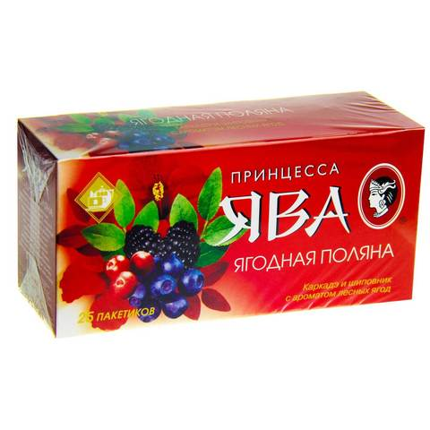 Чай ява 25шт ягодная поляна