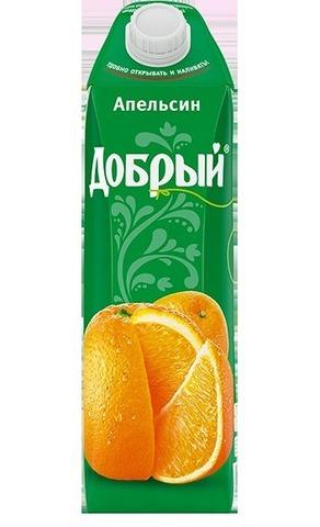 Сок добрый 1л апельсин