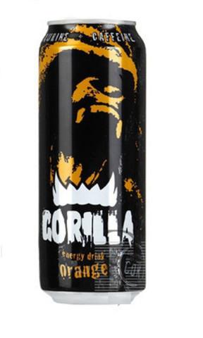 Напиток энергет gorilla 0.45л апельсин ж/б
