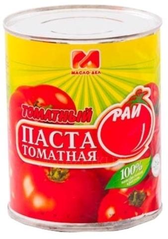 Томат паста томатный рай 320г гост ж/б