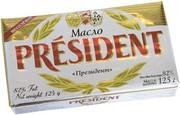 Масло president 125г 82%