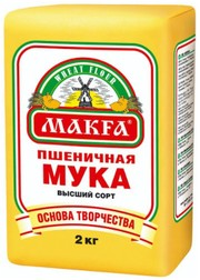 Мука макфа 2кг в/с пшеничная
