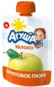 Пюре агуша 90г яблоко